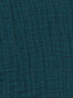 FRANCE DUVAL-STALLA Double gaze de coton vert canard 1