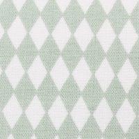 choix du Tissu LINNA MORATA Diamonds vert d'eau pour kit prêt-à-coudre cadeau naissance salopette bébé et son petit sac baluchon