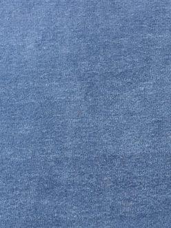 Popeline & Linon Velours bleu jeanne 2