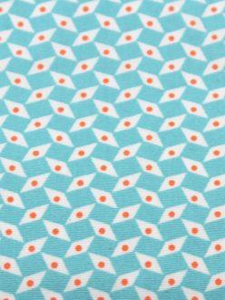 Kit couture prêt-à-coudre salopette et son petit sac baluchon choix tissu PETIT PAN pépin bleu azur