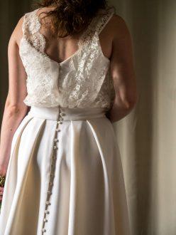 Patron de couture robe de mariée dos
