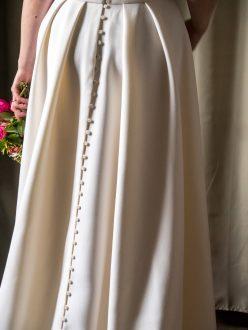 Patron de couture robe de mariée dos jupe