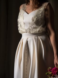 Patron de couture robe de mariée devant