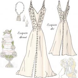 Look Exquise patron de couture robe de mariée
