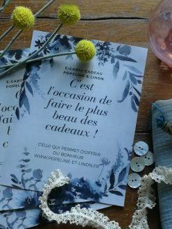 , Cartes Cadeaux, Popeline & Linon